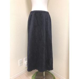レリアン大きいサイズスウェード調ロングスカート紫13号|tentoumusi-recycle