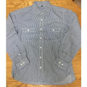 ◆ランク◆SAA<br><br>無印良品のヒッコリーストライプの長袖シャツ。...