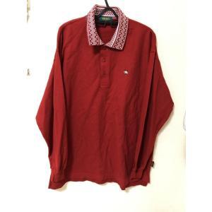 ケンゾー 長袖鹿の子ポロシャツ赤5 ゴルフウェア|tentoumusi-recycle