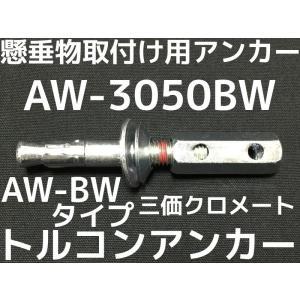 サンコーテクノ トルコンアンカー AW-3050BW W3/8 全長102mm 50本 スチール製 三価クロメート  コンクリート用 懸垂物取付け用アンカー ウェッジ式「取寄せ品」|tenyuumarket