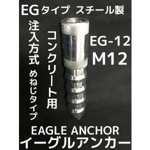 イーグルアンカー EG-12 1本 M12 EGタイプ スチール製 コンクリート用/注入方式 三価クロメートめっき ミリねじ「取寄せ品」 tenyuumarket