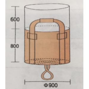 ハーフフレコンバッグ 500kg 丸型 900φ×800(mm) 10枚入 反転ベルト(反転フック)付 土のう袋 送料無料(本州/四国/九州)0.5t「同梱/キャンセル/変更/返品不可」|tenyuumarket|06