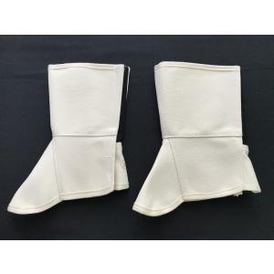 脚絆 きゃはん 3L マジックテープ マジック式 左右1組 肌色 クリーム 帆布 脛あて すねあて 脚カバー 足カバー「返品交換不可」|tenyuumarket