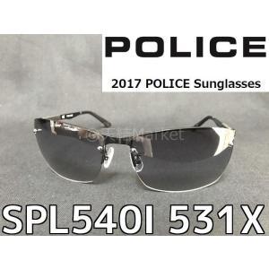 P5倍 国内正規品 POLICE ポリス サングラス SPL540I 531X 2017年モデル 新作 ニッケル合金フレーム スモークグラデーションミラー|tenyuumarket