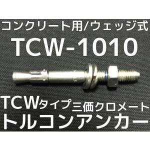サンコーテクノ トルコンアンカー TCW-1010 M10 全長100mm 30本 スチール製 三価クロメート処理 コンクリート用 ウェッジ式 締付方式 平行拡張型「取寄せ品」|tenyuumarket