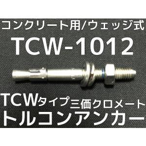サンコーテクノ トルコンアンカー TCW-1012 M10 全長120mm 30本 スチール製 三価クロメート処理 コンクリート用 ウェッジ式 締付方式 平行拡張型「取寄せ品」|tenyuumarket