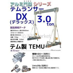 テム製 ランサー3.0トン DXデラックス アルミ合金 H鋼ダブル 分解式ワイヤー アルミ門型シリーズ「別途送料ご連絡」「キャンセル/変更/返品不可」|tenyuumarket