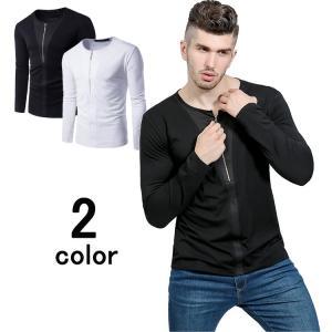 ロンT Tシャツ メンズ 長袖Tシャツ 無地Tシャツ ティー...
