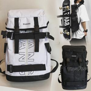 スケボーリュック メンズ レディース リュックサック 撥水 大容量 男女兼用 スケボー収納 バッグ ...