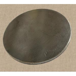 鉄板 直径24cm 厚み9mm 材料/金属/作業台/プレート/金属/極厚/切板/DIY/SS400 teppan-market