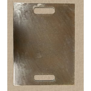厚み9mm 鉄板 取手穴付き 40cm×50cm  材料/金属/作業台/プレート/金属/極厚/切板/DIY/SS400|teppan-market