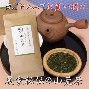 荒茶とは、茶葉だけではな茎も粉も、まるごと仕上げた農家の秘伝のお茶。 大胆な強火の火入れで、お茶本来...