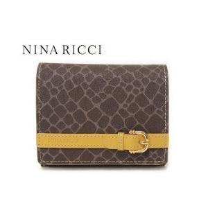 8f241f10fa35 NINA RICCI ニナリッチ 財布 二つ折り ボックス小銭入れ イエロー レディース box 四角