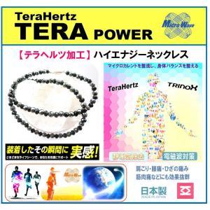 テラパワー ハイエナジー ネックレス テラ加工鉱石+カットオニキス 6mm M 50cm terapower