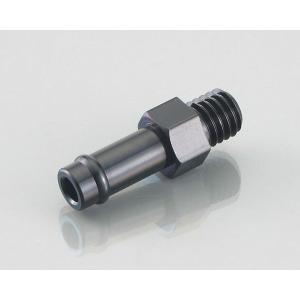 キタコ(KITACO) ニップル ブラックアルマイト 6mmホース用 M8×P1.25 1個 0900-990-90025|terranet
