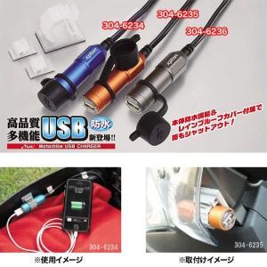 キジマ(KIJIMA) USBチャージャー(ブルー) シングルポート2 防水仕様IPX5相当 ゴムキャップ付 304-6234|terranet