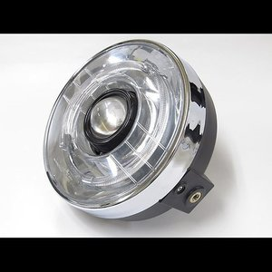 プロテック バイク用LEDプロジェクターヘッドライト LH-3150 180φ ネイキッド 丸目タイプ 3000K 63150-30|terranet