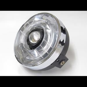 プロテック バイク用LEDプロジェクターヘッドライト LH-3150 180φ ネイキッド 丸目タイプ 5000K 63150-50|terranet