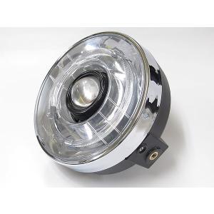 プロテック バイク用LEDプロジェクターヘッドライト LH-3150 180φ ネイキッド 丸目タイプ 6000K 63150-60|terranet