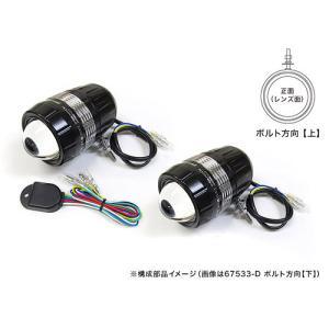 プロテック 自動車用LEDフォグライト FLH-533 (REVセンサー付 左右1set) ボルト方向【上】 67533-U|terranet