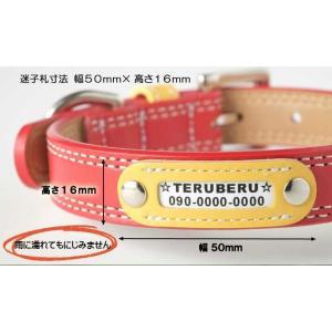 迷子札 犬 首輪 名前入り ネームタグ 首輪 おしゃれ 中型犬 小型犬 革 かわいい maigo|teruberu|04