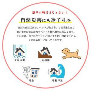 迷子札 犬 首輪 名前入り ネームタグ 首輪 おしゃれ 中型犬 小型犬 革 かわいい maigo|teruberu|06