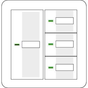 電材商品コスモシリーズワイド21表示付・ネーム付2連ラウンドプレートホワイト・ハンドルホワイトセットスイッチ4個用 2raastあすつく|terukuni
