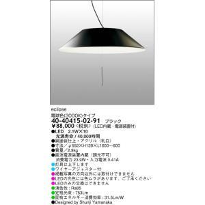 40-40415-02-91 RayLightingProducts  eclipsエクリプス ワイヤー吊ペンダント [LED電球色][ブラック] マックスレイ|terukuni