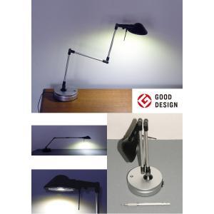 710D Pro-Task Lamp  新型LEDプロタスクランプ デスクトップ型 ブラック&シルバー 5WパワーLED 白色5000K ニシオ商会|terukuni
