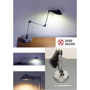 711B Pro-Task Lamp  新型LEDプロタスクランプ デスクトップ型 ブラック&シルバー 5WパワーLED 電球色3000K ニシオ商会|terukuni