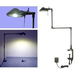 712D Pro-Task Lamp  新型LEDプロタスクランプ クランプ型 アルミ3本アーム 5WパワーLED 白色5000K ニシオ商会|terukuni