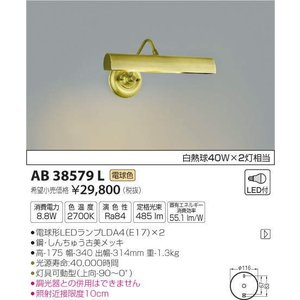AB38579L   ピクチャーライト [LED電球色] コイズミ照明 terukuni