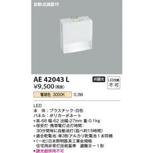AE42043L 自動点滅器付  保安灯 ナイトライト [LED電球色] あすつく コイズミ照明|terukuni