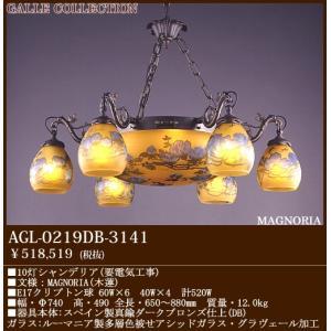 アカネライティング・ガレコレクションGALLE COLLECTION ガレ・コレクションMAGNOLIA(木蓮)10灯シャンデリアダークブロンズAGL-0219DB-3242|terukuni