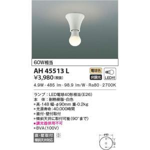 AH45513L   小型シーリングライト [LED電球色] あすつく コイズミ照明 terukuni