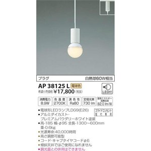 AP38125L   プラグタイプコード吊ペンダント [LED電球色] コイズミ照明 terukuni