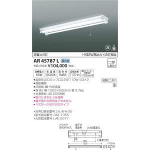 AR45787L 逆富士2灯 直管LEDランプ搭載 非常用照明器具 [LED昼白色] コイズミ照明|terukuni