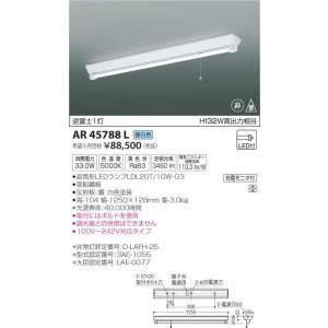 AR45788L 逆富士1灯 直管LEDランプ搭載 非常用照明器具 [LED昼白色] コイズミ照明|terukuni