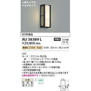屋外用ライト人感センサ付アウトドアポーチライト[LED電球色][ブラック]AU38389L|terukuni