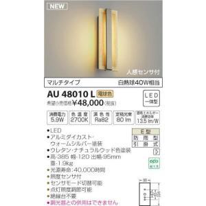 屋外用ライト木質感人感センサ付アウトドアポーチライト[LED電球色][ウォームシルバー]AU48010L|terukuni