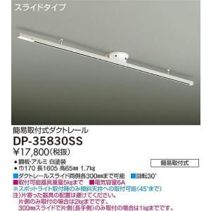 DP-35830SS DAIKO スライドタイプ  簡易取付式ダクトレール [全長1605mm]|terukuni