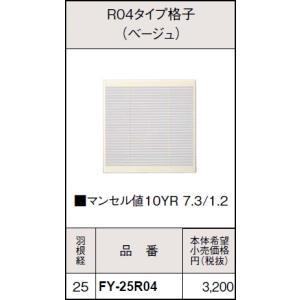 FY-25R04   インテリア形換気扇用別売ルーバー [ベージュ][25cm用] あすつく パナソニック|terukuni