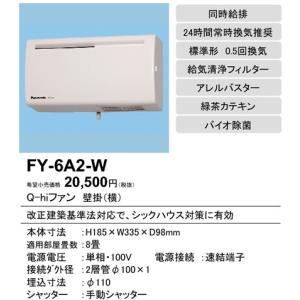 電材商品Q hiファン(6畳用・壁掛・薄型)[ホワイト]FY-6A2-Wあすつく|terukuni