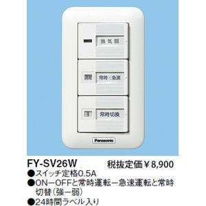 電材商品換気扇スイッチ/速調付FY-SV26Wあすつく terukuni