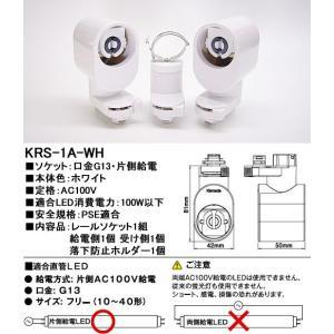 カメダデンキカメダレールソケットS配線ダクト用LEDベースライトソケット1灯タイプ[ホワイト][ランプ別売][ランプ別売]KRS-1A-WH|terukuni