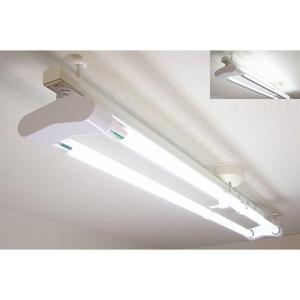 KRS-2A-WH-SET-N カメダレールソケットW 昼白色LEDランプセット  配線ダクト用LEDベースライト2灯タイプ  あすつく カメダデンキ|terukuni