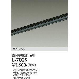 L-7029 LUMI LINE(ルミライン) 直付専用型 ダクトレール本体 1m 黒 DAIKO terukuni