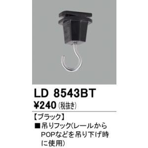 LD8543BT ライティングダクトレール用  吊フック [ブラック] オーデリック|terukuni