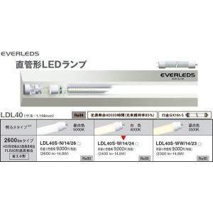 ランプLDL40S・W/14/24LDL40省エネ形2600lmタイプ 直菅LEDランプ[LED白色4000K]LDL40SW1424 terukuni
