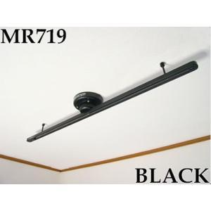 MR719 ワンタッチ  簡易式ダクトレールショートタイプ本体 ブラック あすつく トヨスター|terukuni